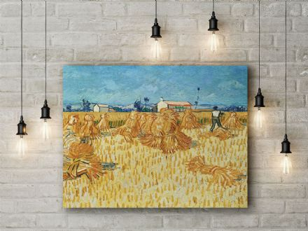 Vincent van Gogh: Harvest in Provence. Fine Art Canvas.